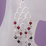 downton waterfall earrings